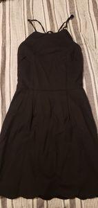 Black scalloped dress